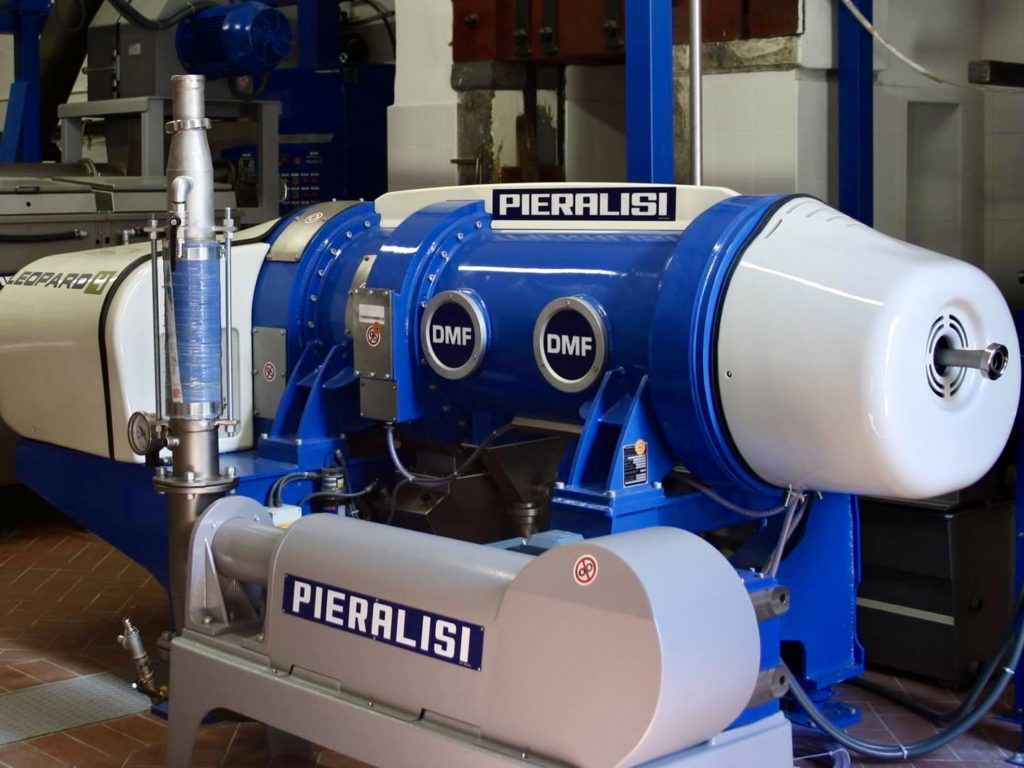 Today modern pressing equipment ensures the highest quality extra virgin olive oi